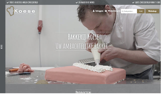 Bakkerij Koese website