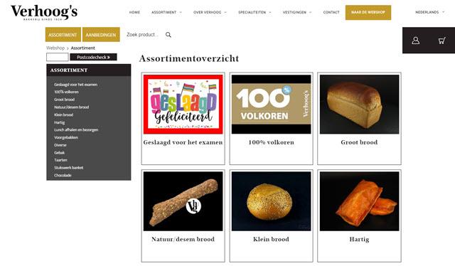 Webshop Bakkerij Verhoog